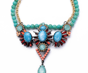 beauty, fashion, and necklace for women image