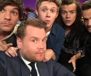 james corden, liam payne, and niall horan image