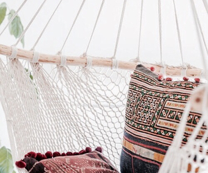 beautiful, girl, and hammock image