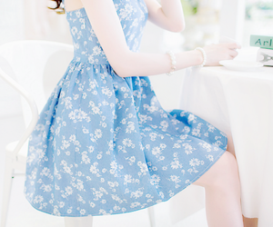 dress, kfashion, and blue image
