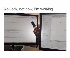 funny, work, and jack image