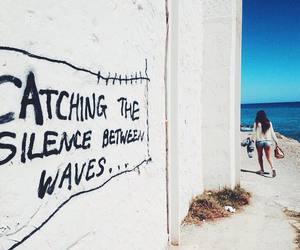 sea, silence, and text image
