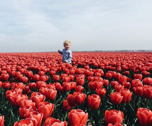 flowers and kids image