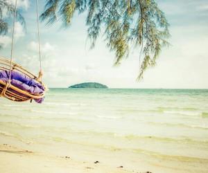 beach, Cambodia, and paradise image