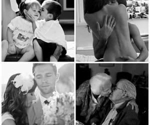 couple, young love, and old love image