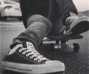 converse, skateboard, and skate image