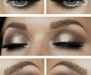 eyes, makeup, and smokey image