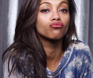 zoe saldana, pretty, and lips image