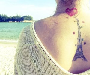tattoo, paris, and heart image