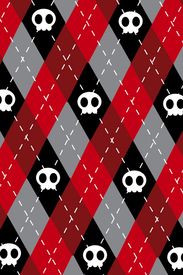 Wallpapers Skulls Black Red White Grey On We Heart It