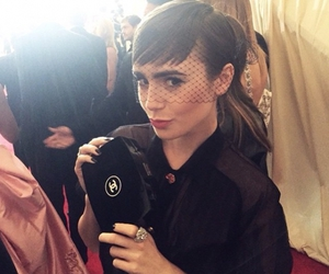 chanel, karl lagerfeld, and lily collins image