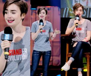 red carpet, we day, and lily collins image