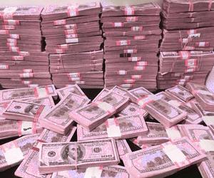 pink, money, and grunge image