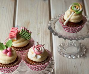 candy, cupcakes, and dessert image