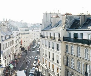 city, morning, and france image
