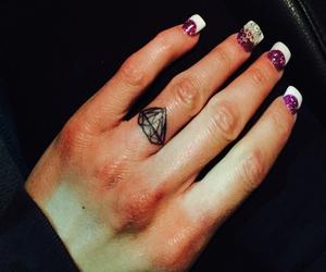 diamond, girls, and nails image