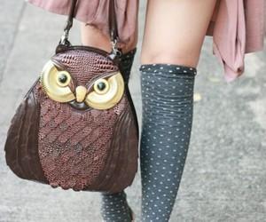 fashion, owl, and bag image