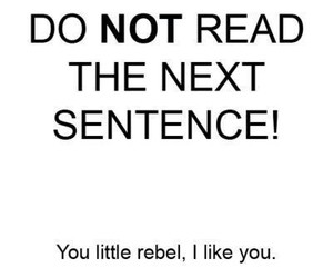 rebel, funny, and quote image