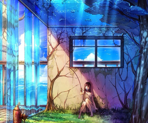 anime, art, and water image