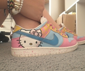 blue, kawaii, and nike image