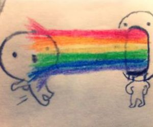 awesome, emo, and rainbow image