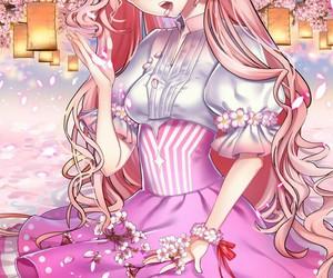 pink, sweet, and anime_girl image