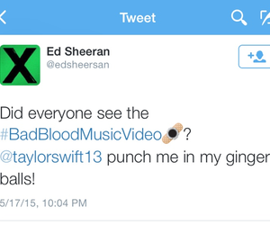 funny, twitter, and sweeran image