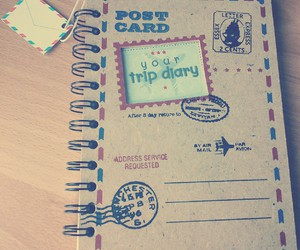 diary, travel, and trip image