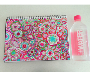 drawing, pink, and water image