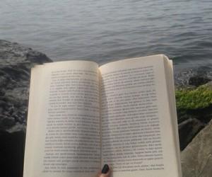 book, grunge, and sea image