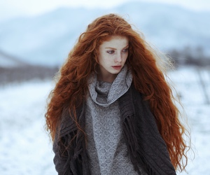 girl, winter, and hair image