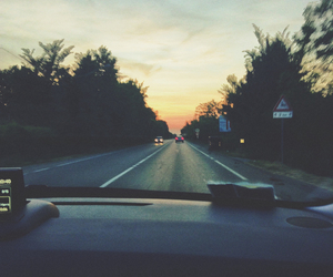 alone, car, and trip image