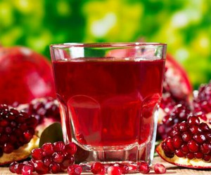 fruit, healthy, and pomegranate image