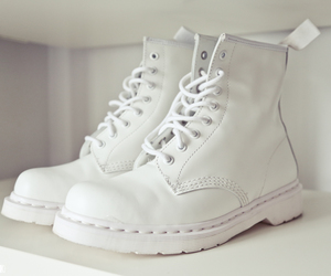 boots, white, and docs image