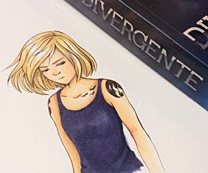 blonde, books, and divergent image
