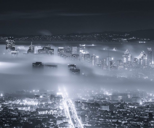 adorable, city lights, and clouds image