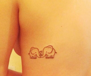 elephant, tattoo, and love image