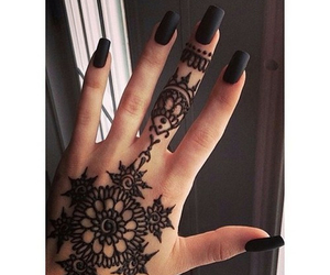 hand, tatoo, and henna image
