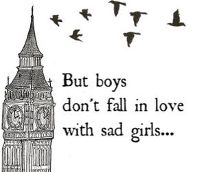 boys, sad, and girl image