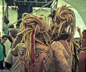 dreads, rasta, and tattoo image