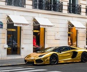 gold, Lamborghini, and rich image