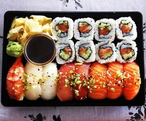 food, sushi, and fish image