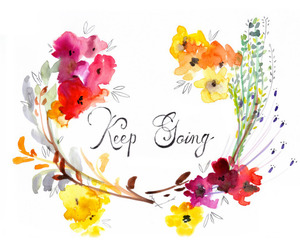 flowers and motivation image