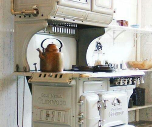 kitchen, vintage, and white image