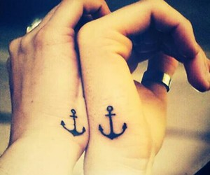 anchor, best friends, and tattoo image