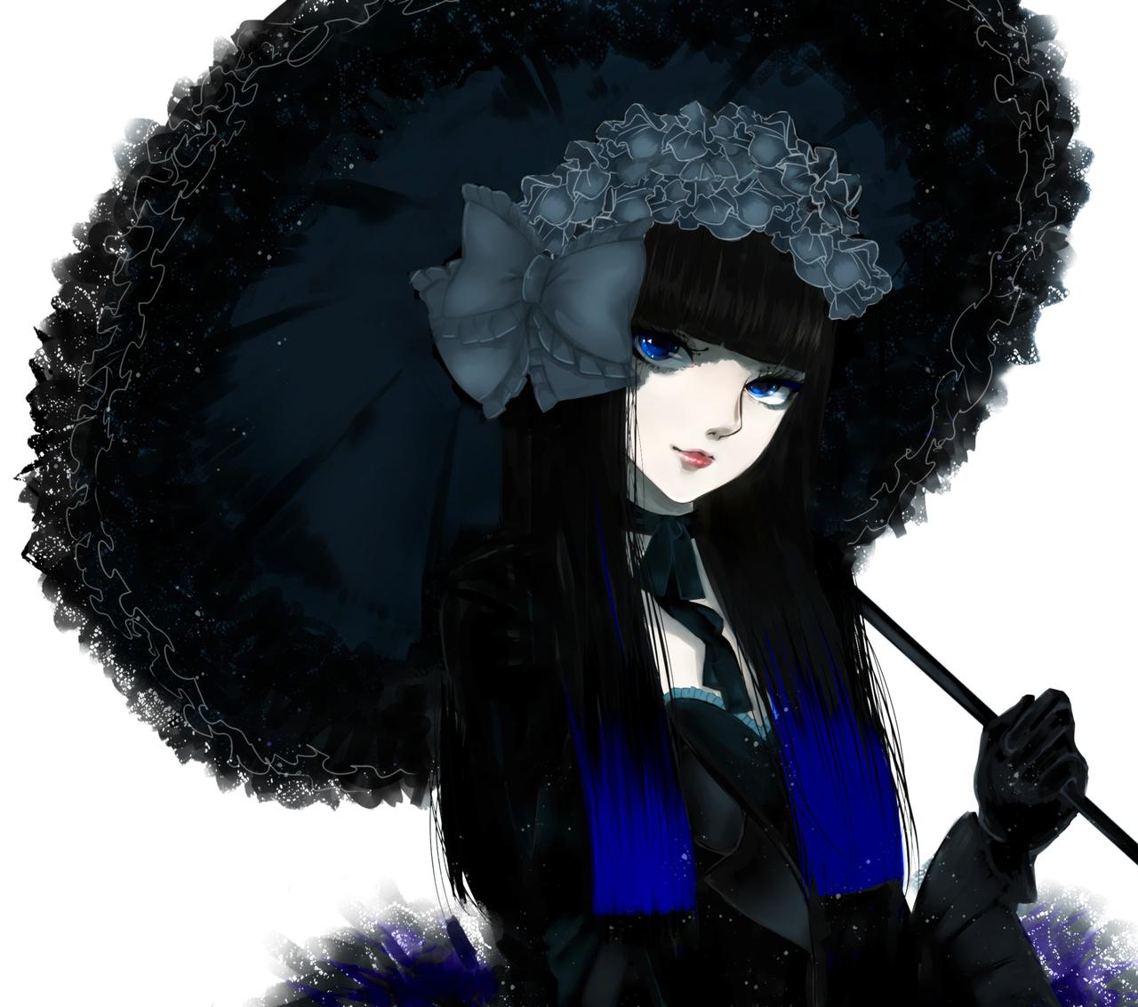 Gothic Victorian Anime Girl