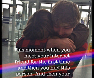 friendship, quotes, and internet friends image