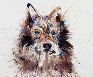 painting and wolf image