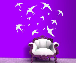 vinyl stickers, wall decals, and flying birds image