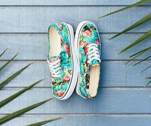 vans, floral, and shoes image